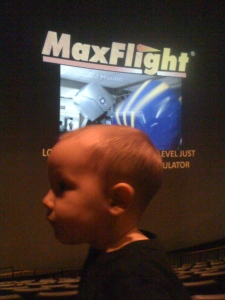 Beanster at the IMAX.